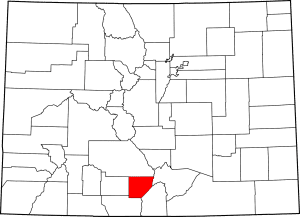 Alamosa County Colorado Map