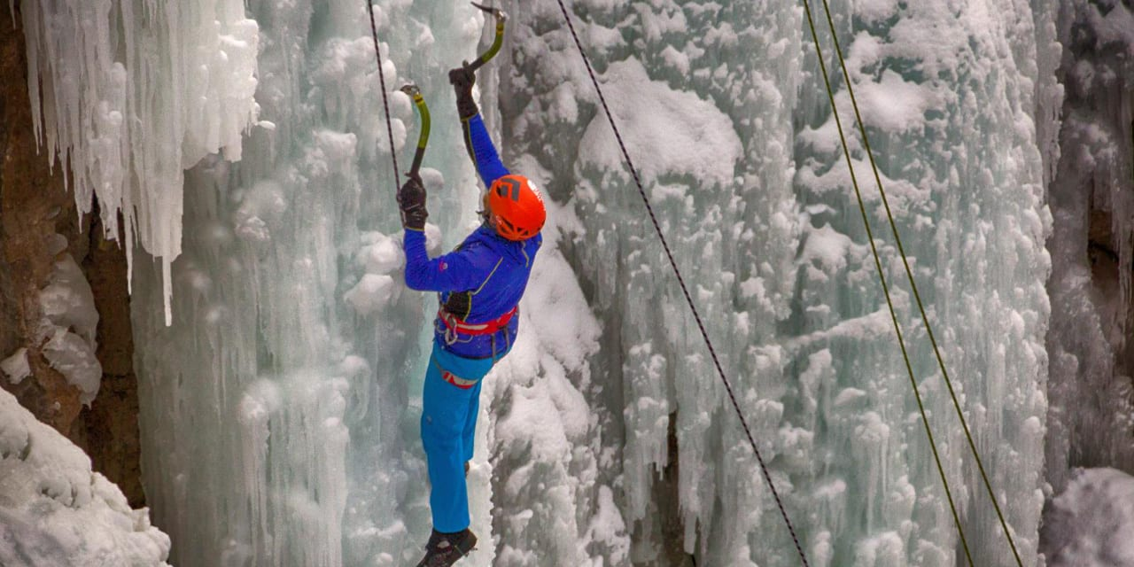 Ouray Ice Festival Climber