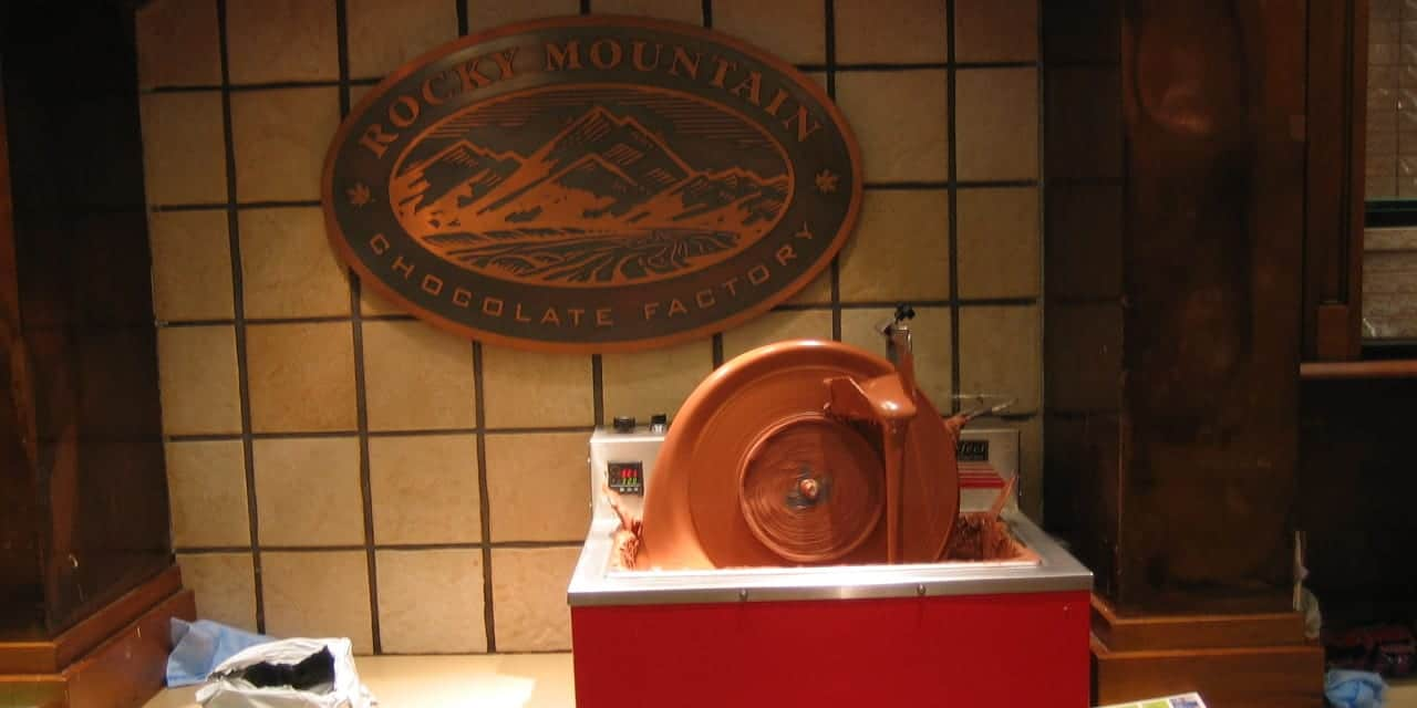 Rocky Mountain Chocolate Factory wheel.