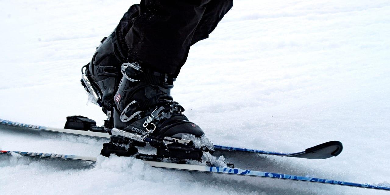 Ski Boots Bent Knees