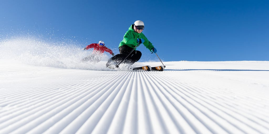 Skiing Fresh Corduroy