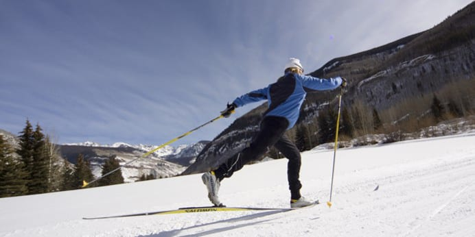 Vail Nordic Center Cross Country Skier