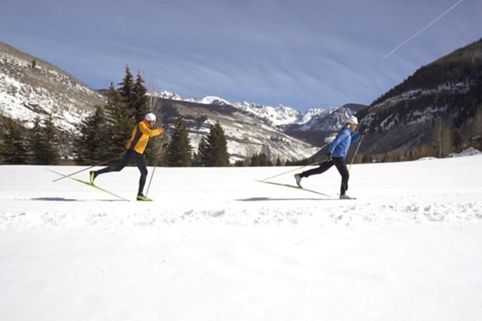 Vail Nordic Center Cross Country Skiers