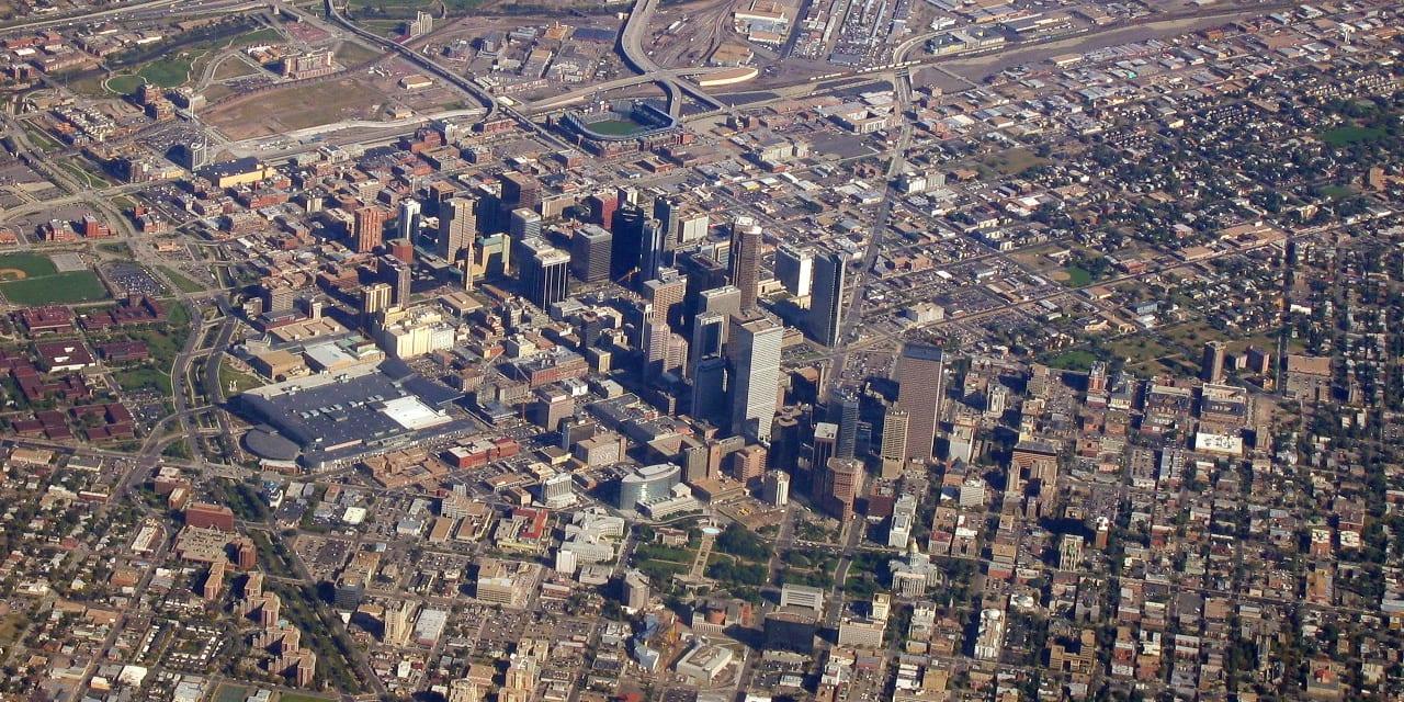 Denver County Colorado Aerial