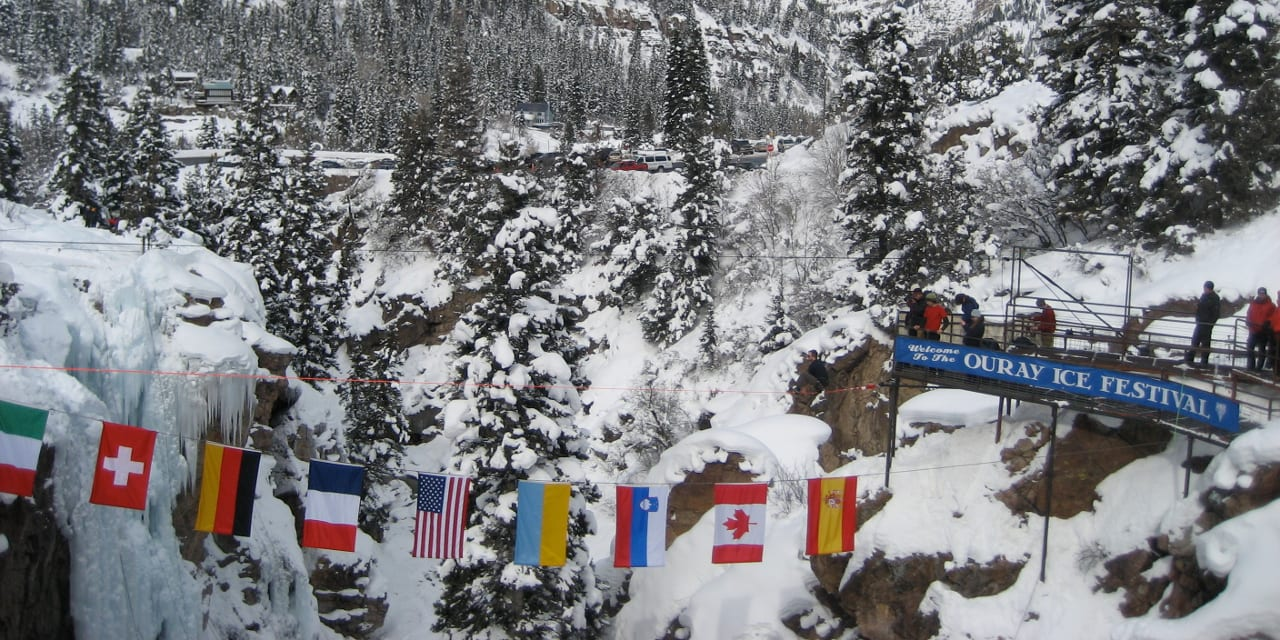 Ouray Ice Festival Welcome Flags