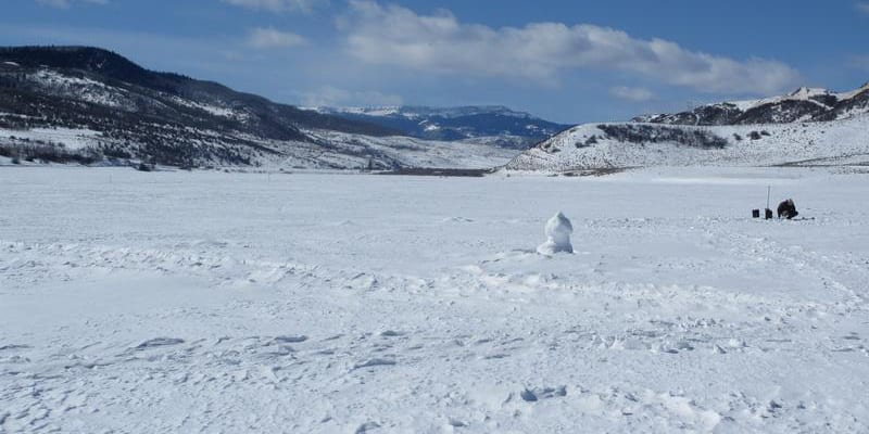 Stagecoach Reservoir Ice Fishing