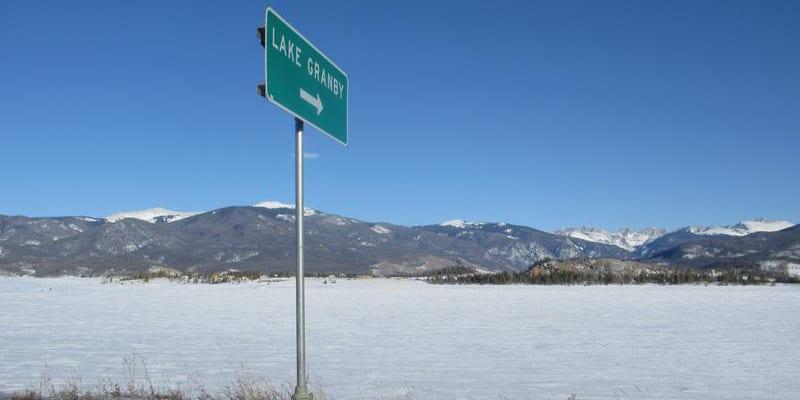 Lake Granby Highway Sign