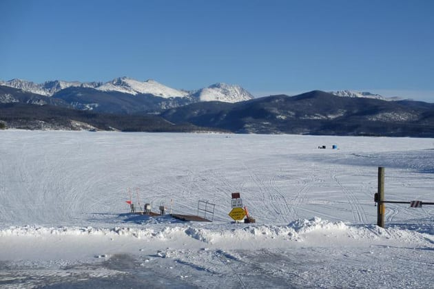 Ice fishing the great lakes of colorado definitely for Fishing lakes in colorado springs