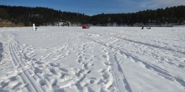 Evergreen Lake Ice Fishing