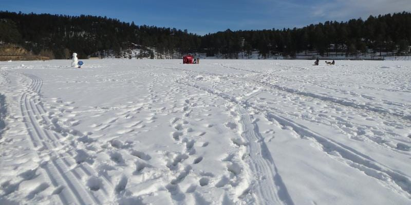 Evergreen Lake Ice Fishing