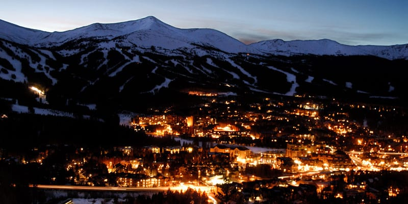 Breckenridge Colorado Winter Night