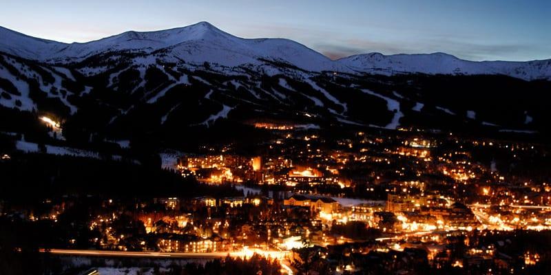 Breckenridge Colorado Winter Night