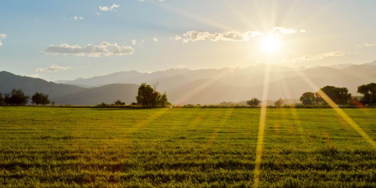Broomfield County Colorado Sunset