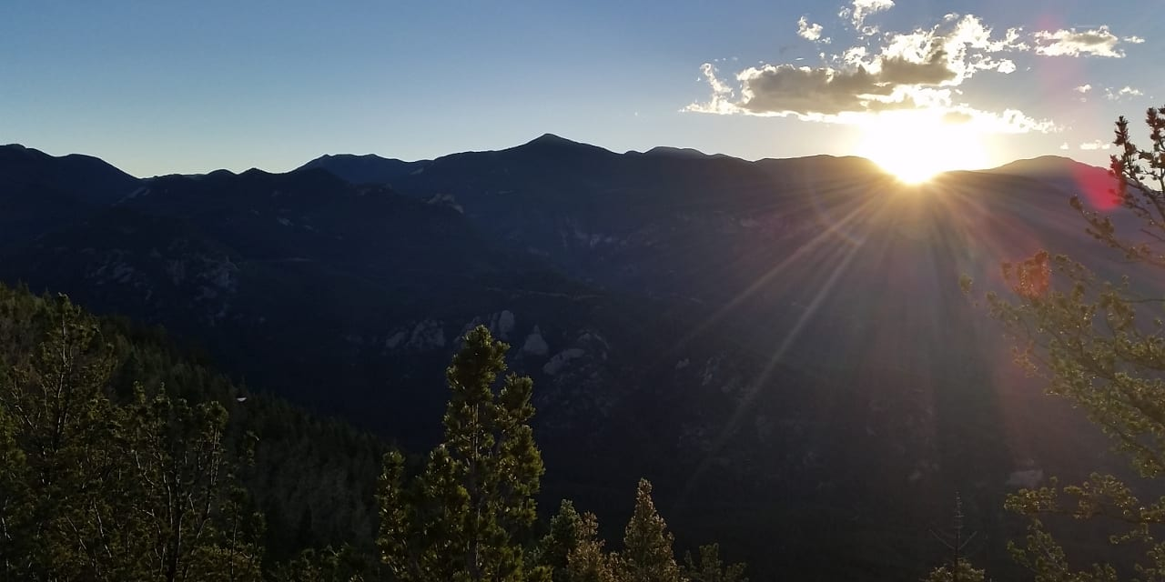 Cheyenne Mountain State Park Sunset