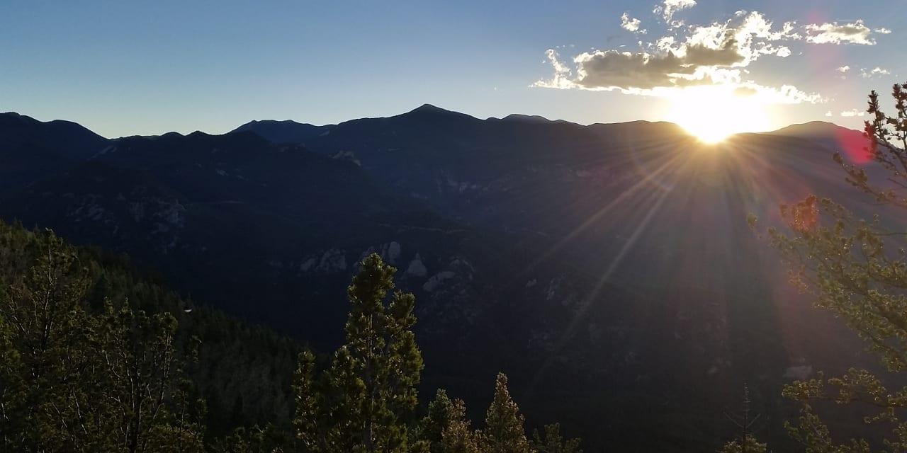 Cheyenne Mountain State Park Sunset