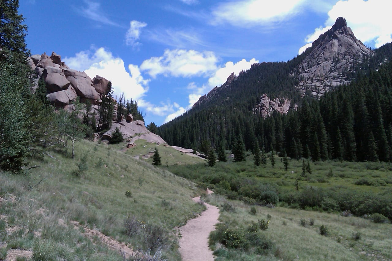 Crags Hiking Trail Colorado Springs