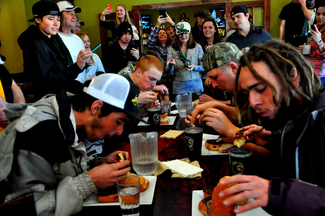 Snowdown Durango Doughnut Eating Contest