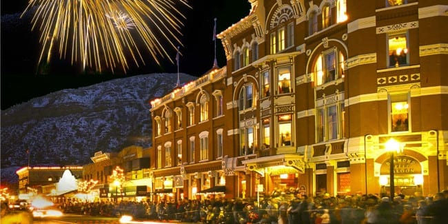 Downtown Durango Fireworks Snowdown