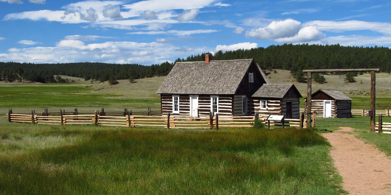 Florissant Fossil Beds National Monument Hornbek Homestead Colorado