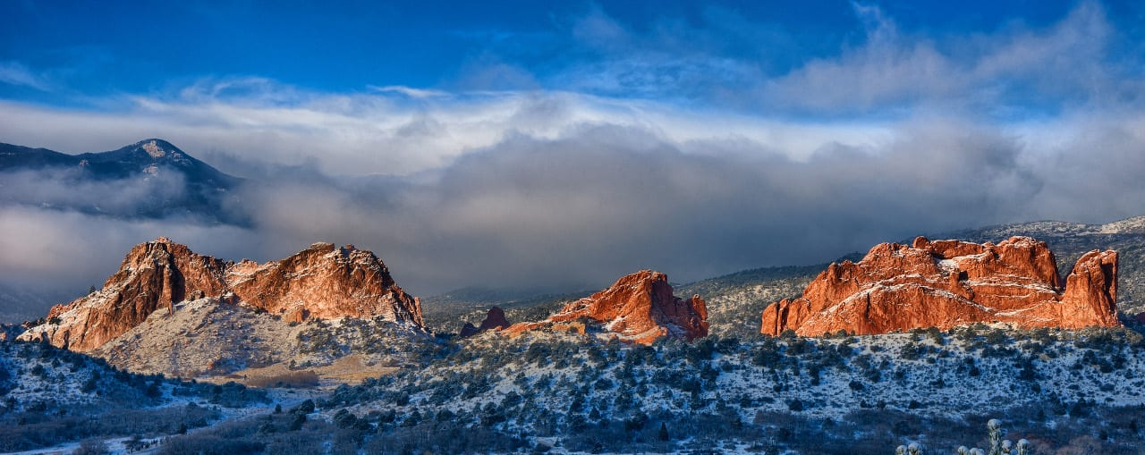 Garden Of The Gods Pikes Peak Snow