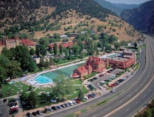 Glenwood Hot Springs Resort Aerial View