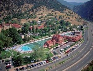 Glenwood Hot Springs Resort Aerial View