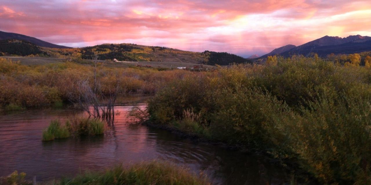 Gore Range Summit County Colorado Autumn Sunset