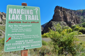 Hanging Lake Trail Sign