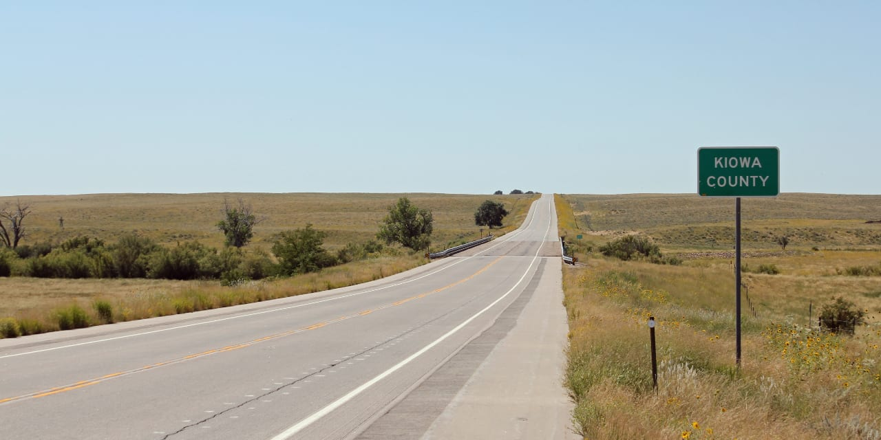 Kiowa County Colorado Highway 287