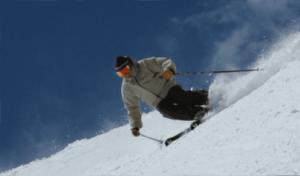 Leon Joseph Littlebird skiing