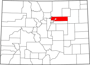 Map Adams County Colorado