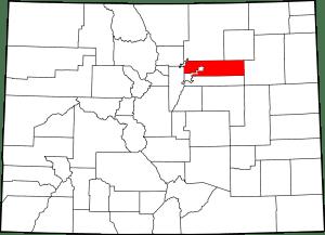 Map Adams County Colorado
