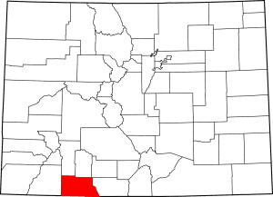Archuleta County Colorado Map