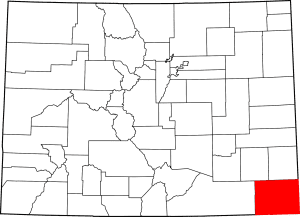 Baca County Colorado Map