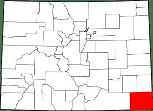 Baca County Colorado Map