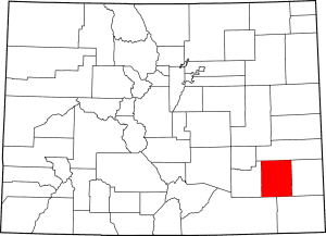 Bent County Colorado Map