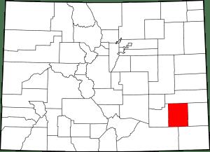 Bent County Colorado Map