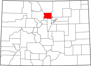 Boulder County Colorado Map