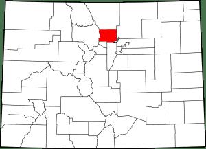 Boulder County Colorado Map