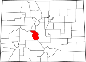Chaffee County Colorado Map