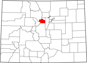 Clear Creek County Colorado Map