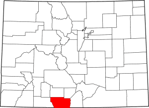 Conejos County Colorado Map