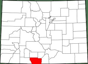 Conejos County Colorado Map