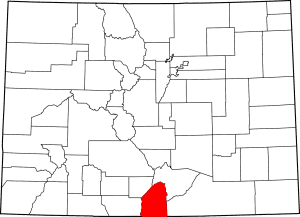 Costilla County Colorado Map