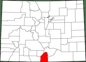 Costilla County Colorado Map