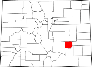 Crowley County Colorado Map