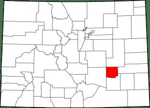 Crowley County Colorado Map