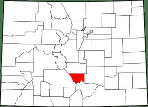 Custer County Colorado Map