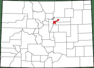 Denver County Colorado Map