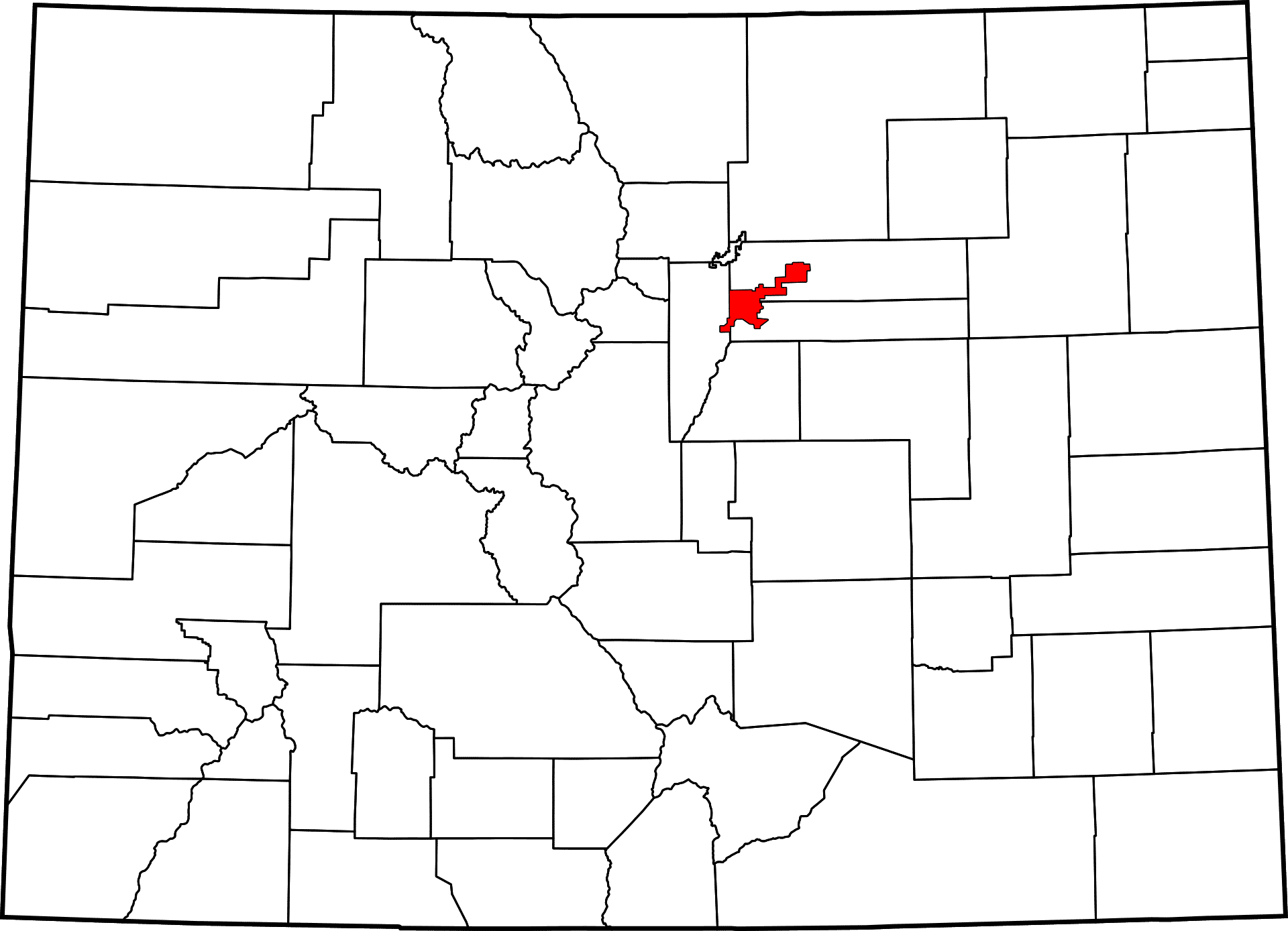 Denver County, Colorado | Map, History and Towns in Denver Co.